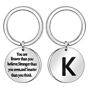 Inspiration Initial Keychain Gift