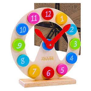 Jaques of London Learning Wooden Clock