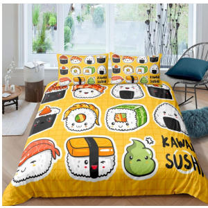 Sushi Pattern Double Duvet Set