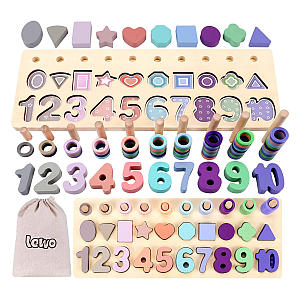 Lewo 3 in 1 Wooden Number Puzzle