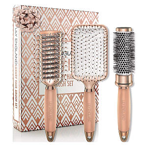 Lily England Rose Gold Hair Brush Set