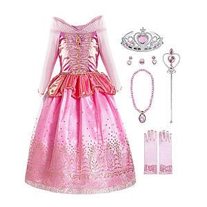 Little Girls Princess Aurora Costume