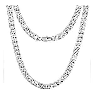 Mens Necklace Silver Chain