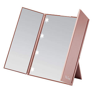 Miss Sweet Lighted Trifold Mirror