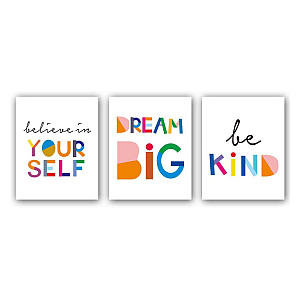 Motivational Art Print Set of 3