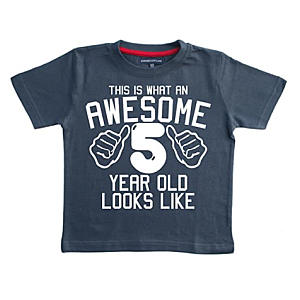 Novelty Awesome 5 Year Old T Shirt