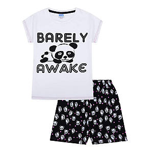 Novelty Barely Awake Panda Short Pyjamas