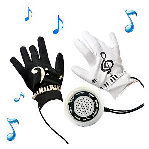 Novelty Electric Piano Gloves