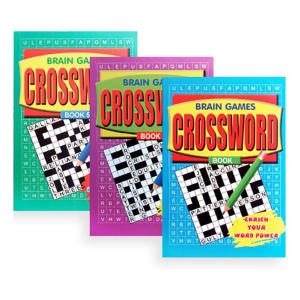Pack of 3 A5 Crossword Books