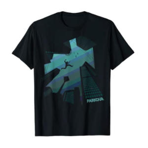 Parkour Building Jump Art T-Shirt