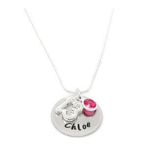 Personalised 13th Birthday Birthstone Necklace