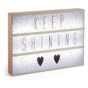 Personalised Light Up Letter Message Box
