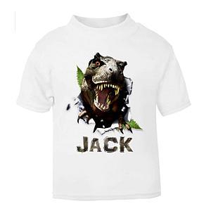 Personalised Name Dinosaur T Shirt