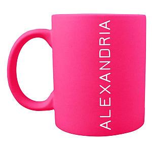 Personalised Name Neon Mug