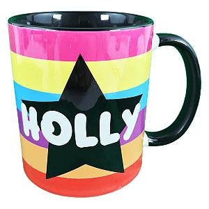 Personalised Star Rainbow Name Mug