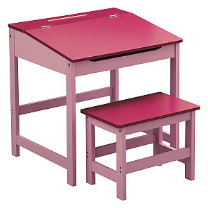 Pink Childrens Table And Chair Set