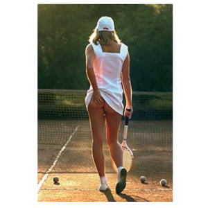 Tennis Girl Slip-Off Poster