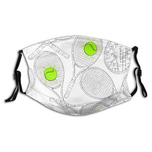 Reusable Half Face Tennis Rackets Bandana