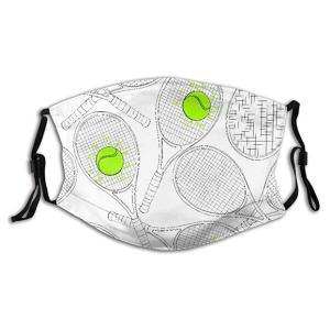 Reusable Half Face Tennis Rackets Bandana