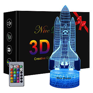 Rocket 3D Illusion Lamp