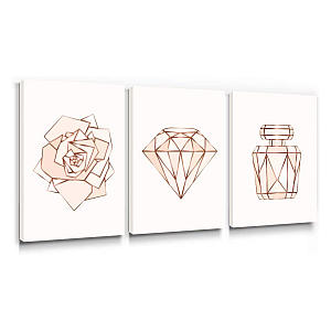 Rose Gold Canvas Pictures