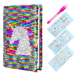 Sequin Unicorn Diary & Magic Pen