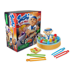 Sushi Scramble Kids Action Board Game