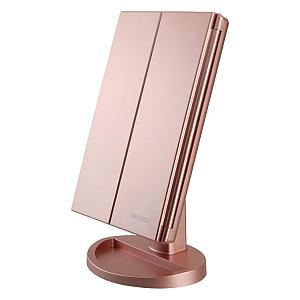 Tri-Fold Lighted Vanity Makeup Mirror
