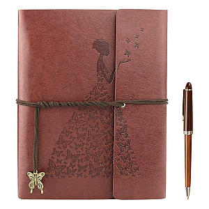 Vintage Leather Refillable Diary Notepad