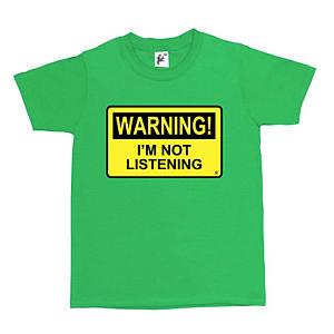 Warning I'm Not Listening T Shirt