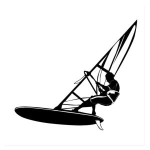 Windsurfing Car Sticker