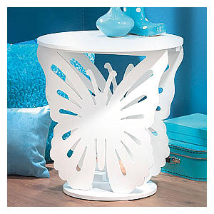 Wooden Butterfly Bedside Table