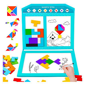 Wooden Magnetic Puzzle Brain Game