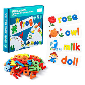 Wooden Spelling Puzzle Game