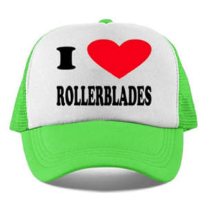 I Love Rollerblades Baseball Caps