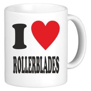 I Love Rollerblades Mug
