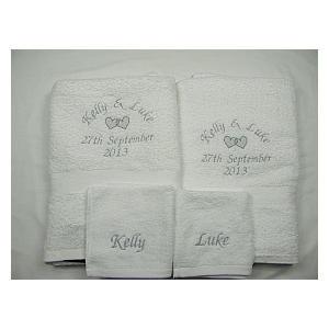 Personalised 4 Piece Towel Set