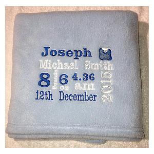 Personalised Baby Gift Blanket