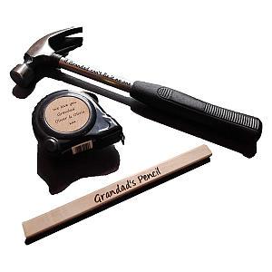 Personalised Engraved DIY Hammer Tool Set