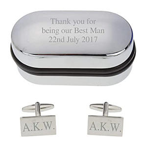 Personalised Engraved Rectangle Cufflinks