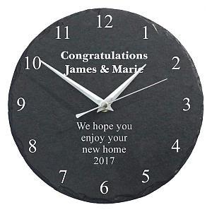 Personalised Engraved Slate Wall Clock