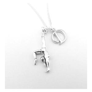 Personalised Gymnast Silver Necklace
