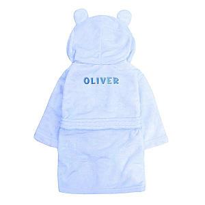 Personalised Hooded Baby Toddler Bath Robe