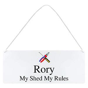 Personalised Tool Motif Hanging Sign