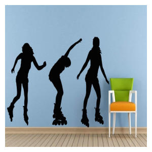 Rollerblading Art Wall Sticker