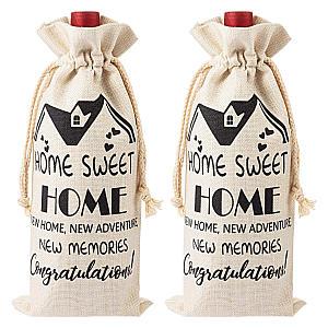2 Pieces Housewarming Wine Bag