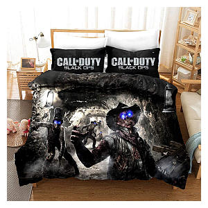 3 Piece Black Ops Bed Covers