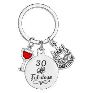 30 And Fabulous Keychain