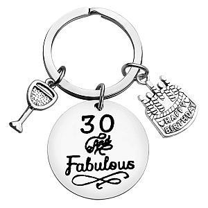 30 And Fabulous Keyring