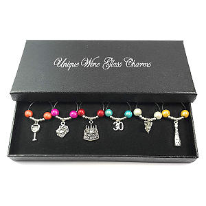 30th Birthday Gift Wine Glass Charms